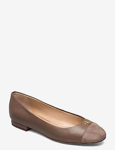 Gaines Nappa Leather Flat - ballerinas - truffle/truffle