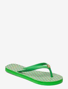 Shawna Floral Sandal - teenslippers - green