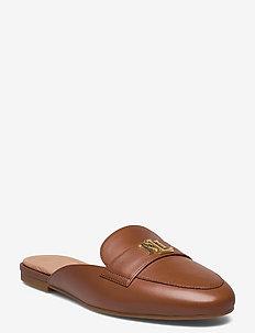 Alli Nappa Leather Mule - mules & slipins - deep saddle tan