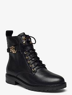 Eldridge Burnished Leather Boot - flache stiefeletten - black
