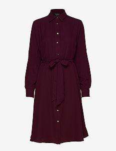 Fit-and-Flare Dress - PINOT NOIR