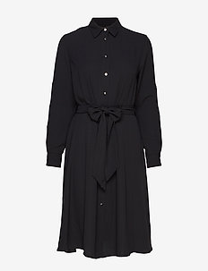 Fit-and-Flare Dress - POLO BLACK