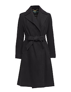 WOOL CASHMERE BLEND-SOLID WOOL WRAP - BLACK