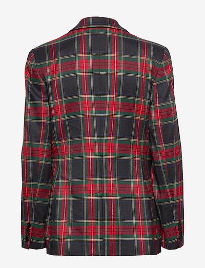 Lauren Ralph Tartan-print Blazer- Blazer Polo Black/red Mu