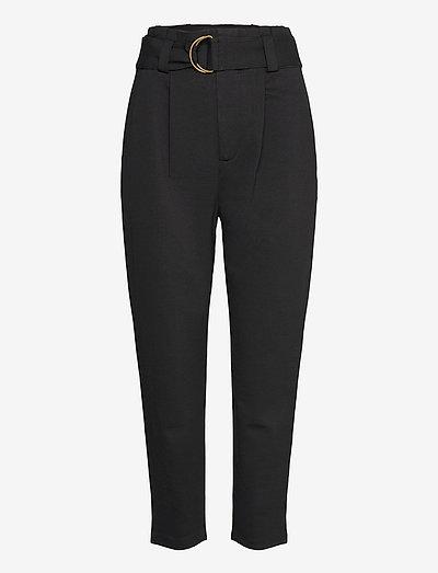 Belted Ponte Pant - slim fit bukser - polo black