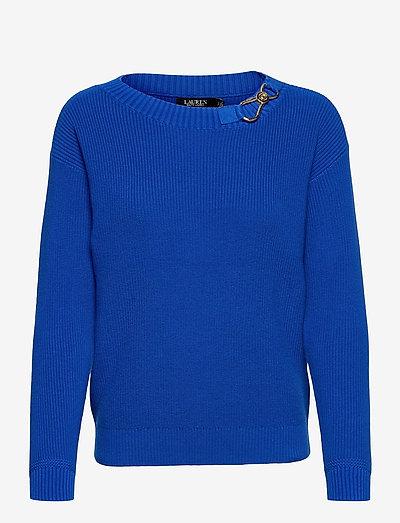 Combed Cotton Sweater - gensere - sapphire star