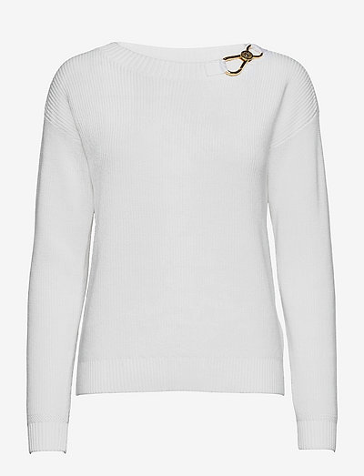 Combed Cotton Sweater - trøjer - white