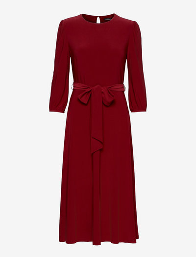 Blouson-Sleeve Jersey Dress - cocktailkjoler - romantic garnet