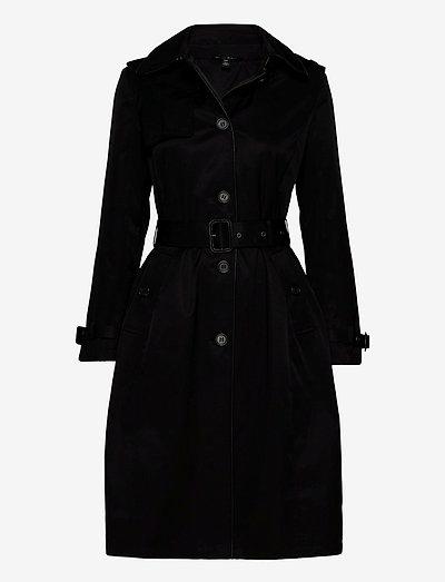 Maxi Trench Coat - trenchcoats - black