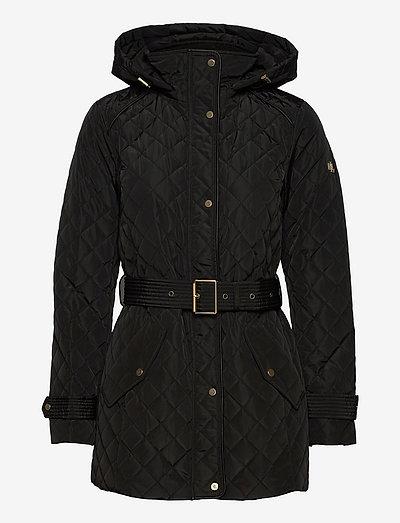 Belted Quilted Jacket - quiltede jakker - black
