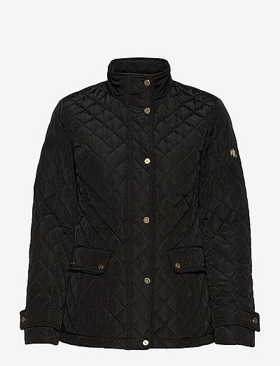 Quilted Mockneck Jacket - quiltede jakker - black