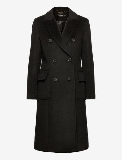 Double-Breasted Wool-Blend Coat - ziemas mēteļi - black