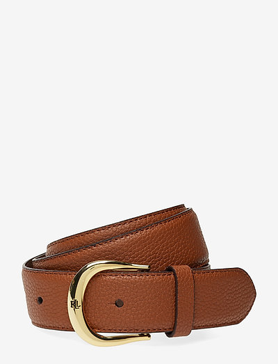 Pebbled Leather Belt - bælter - lauren tan