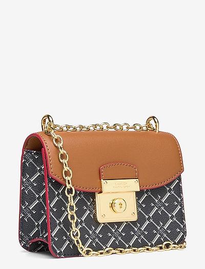 Lauren Ralph Mini Beckett Crossbody Bag- Olkalaukut L Tan/l Navy Logo