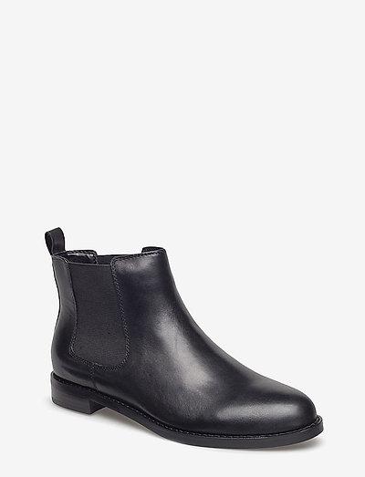 Haana Leather Boot - chelsea stila zābaki - black