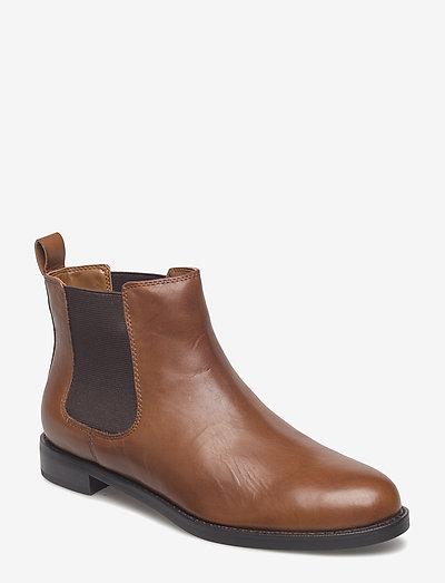 Haana Leather Boot - chelsea stila zābaki - deep saddle tan