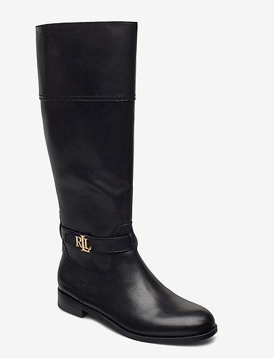 Baylee Leather Boot - langskaftede - black