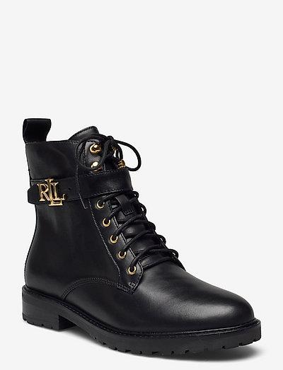 Eldridge Burnished Leather Boot - flade ankelstøvler - black
