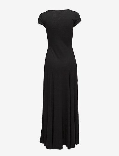Lauren Ralph Jersey T-shirt Maxidress- Sukienki Polo Black