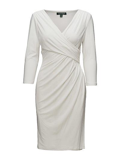 Ruched Jersey Dress - LAUREN WHITE