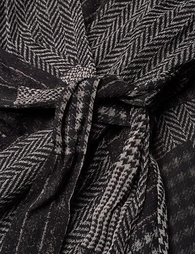 Lauren Ralph Printed Ggt-dress- Sukienki Black/grey/multi