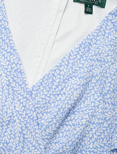 Lauren Ralph Print Crepe Dress- Sukienki Eos Blue/colonial