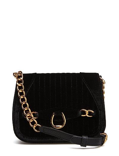 Velvet Crossbody Bag - BLACK
