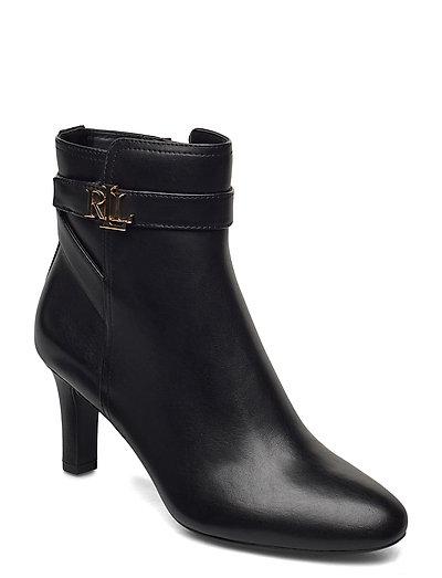 Arianne Leather Bootie - ankelstøvler med hæl - black