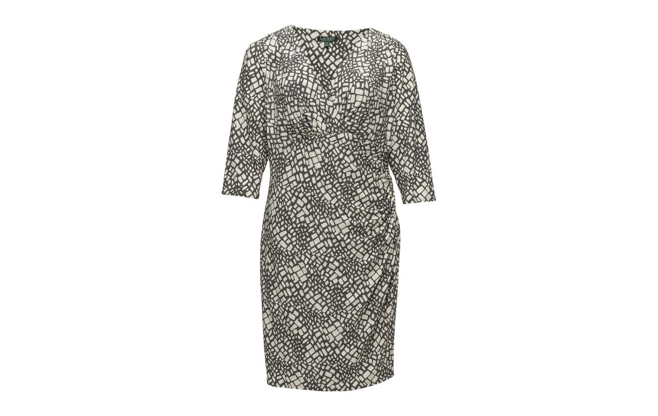Geometric Wrap 95 Lauren colonial 5 Slate Women Polyester Cr Dress print Elastane t8wxr5Yqw