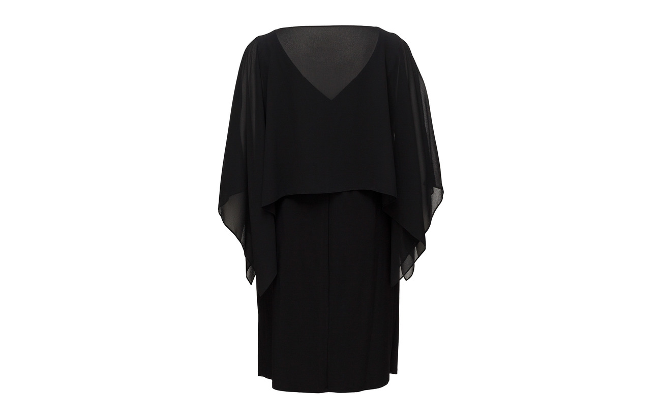 Jersey Doublure Lauren 95 Overlay Polyester Polyester Elastane overlay Coquille Dress 5 Women Extérieure Crepe Black Bodice 100 rrqnztw86