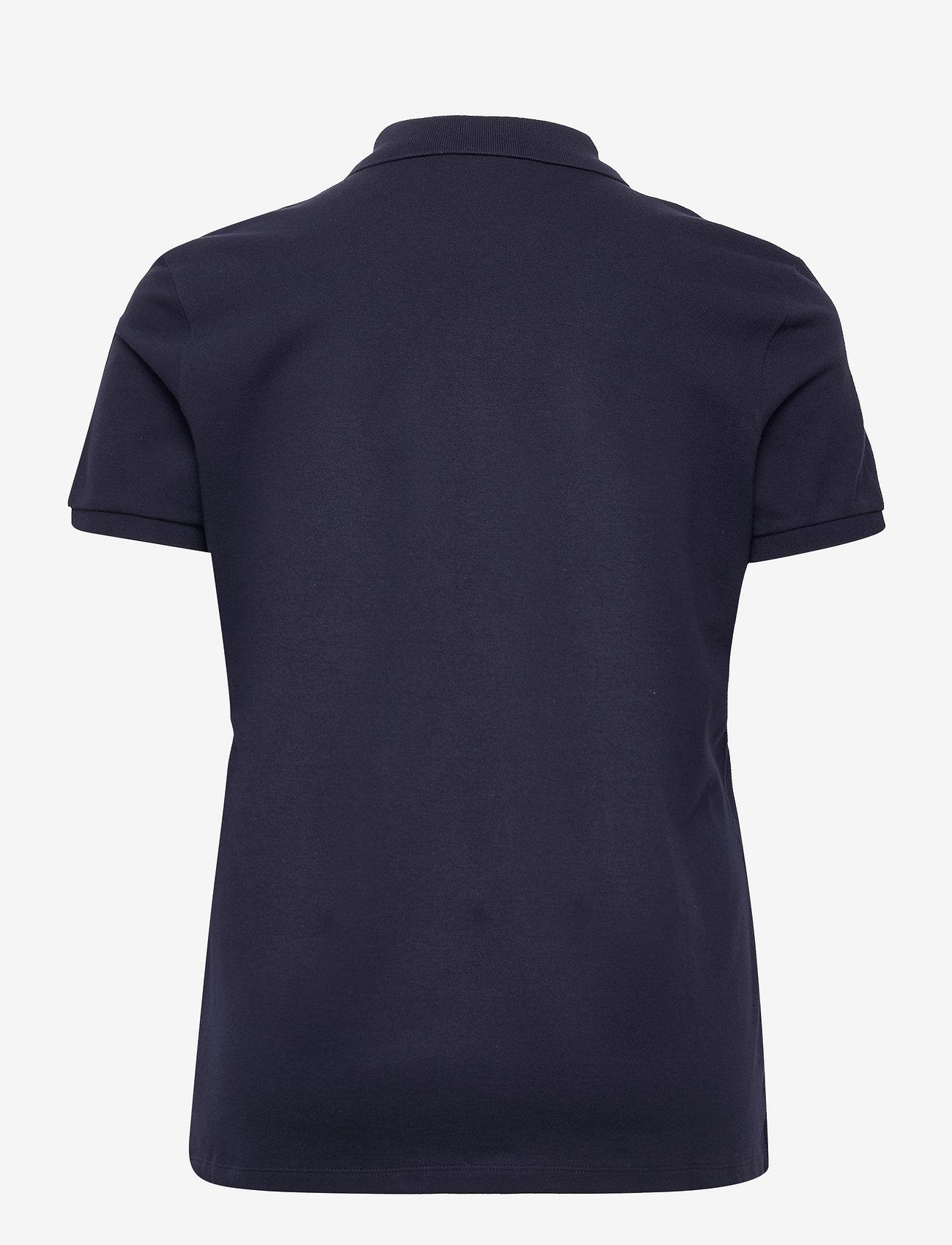 Lauren Women - Stretch Piqué Polo Shirt - poloskjorter - french navy - 1