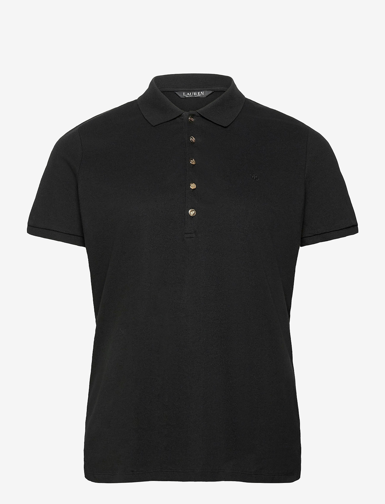 Lauren Women - Stretch Piqué Polo Shirt - poloskjorter - polo black - 0