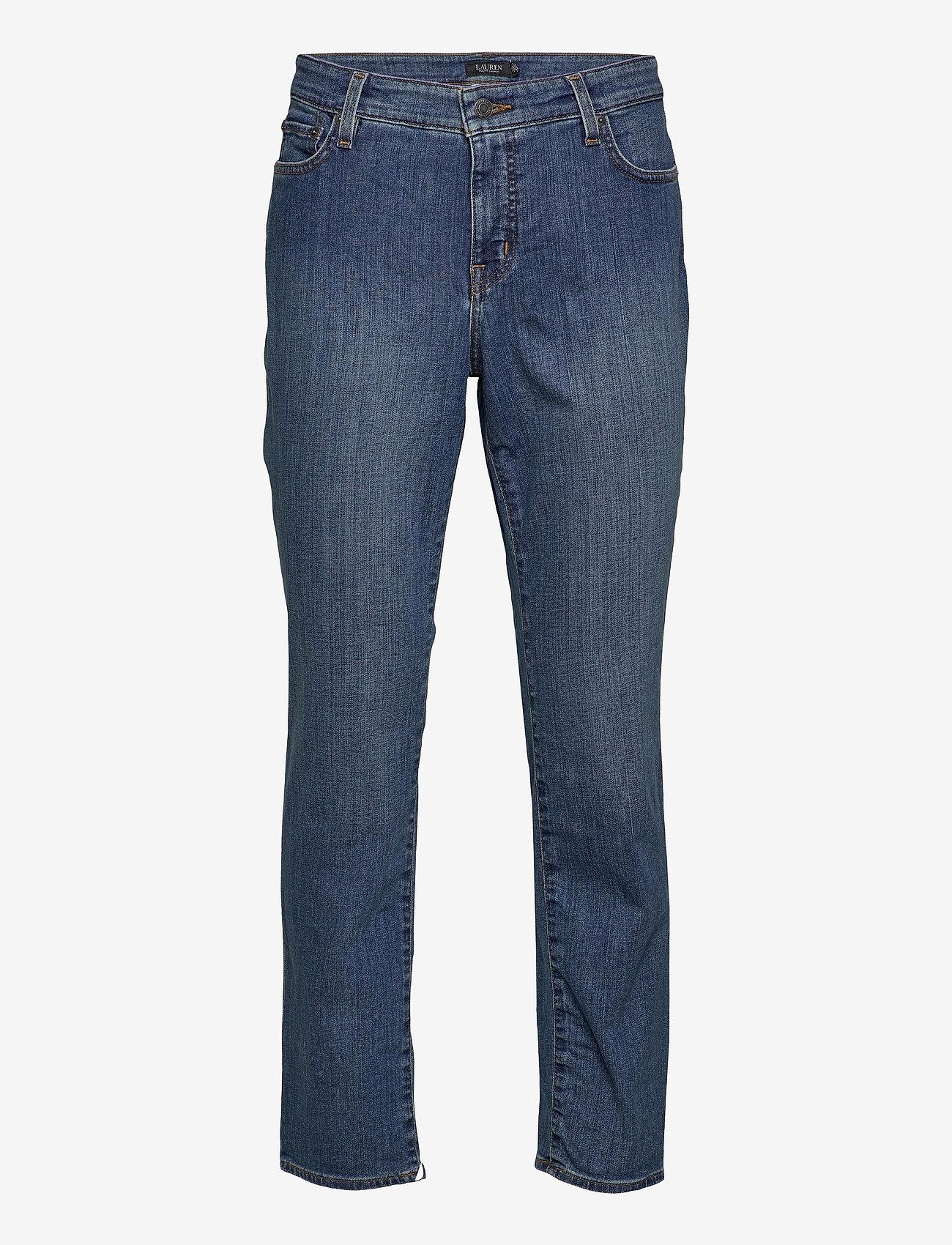 Lauren Women - SPR STR INDIGO DNM-JEAN - straight jeans - ocean blue wash d - 0