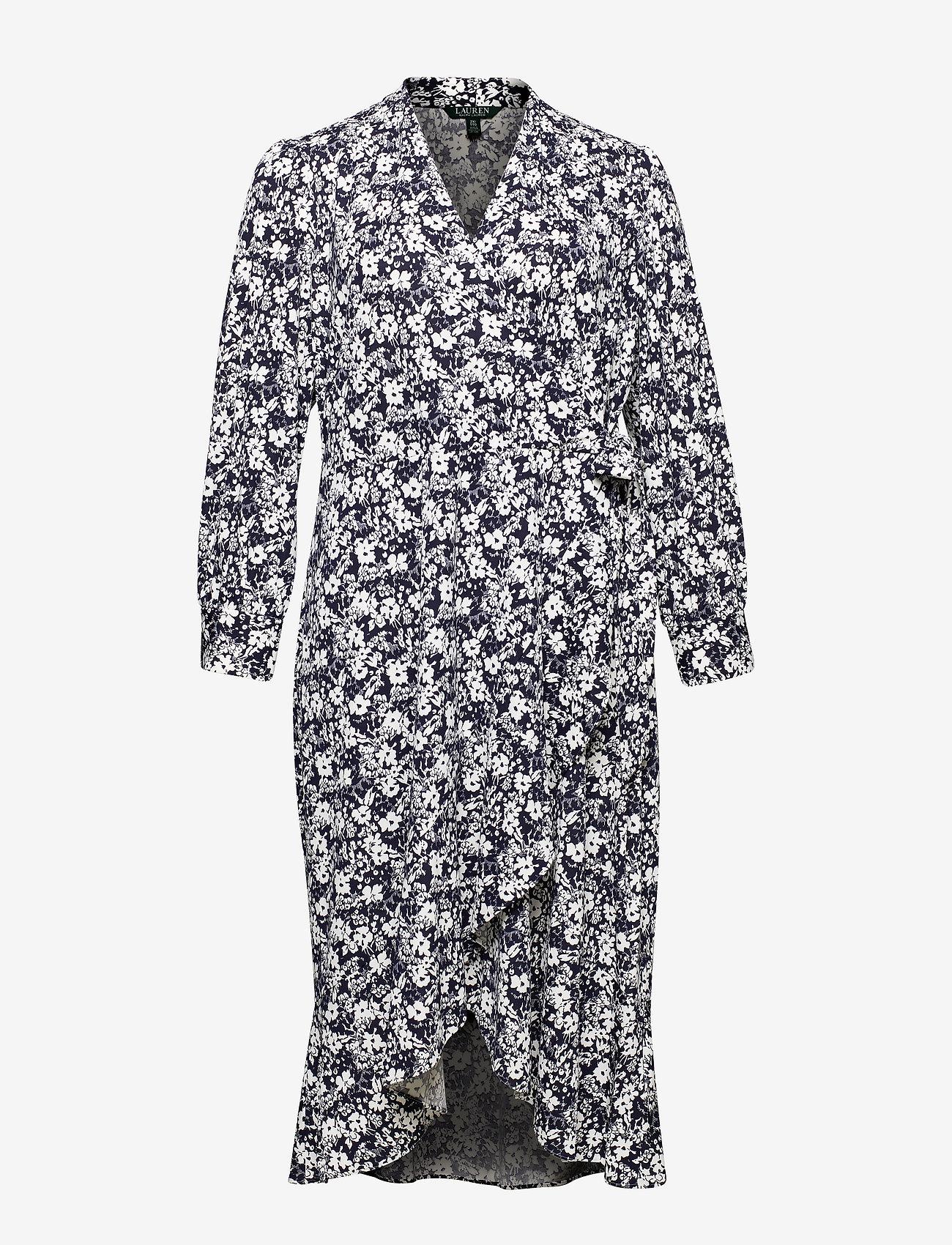 Lauren Women - Floral Wrap-Style Dress - slå-om-kjoler - lauren navy/pale - 0