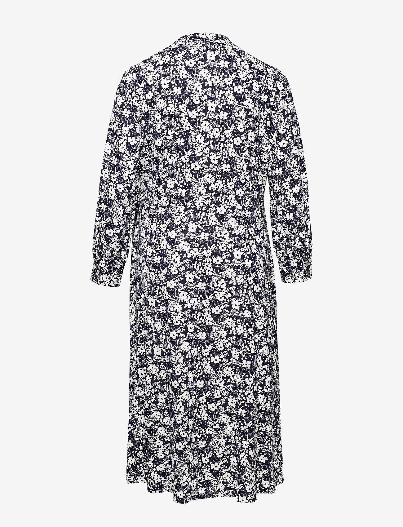 Lauren Women - Floral Wrap-Style Dress - slå-om-kjoler - lauren navy/pale - 1