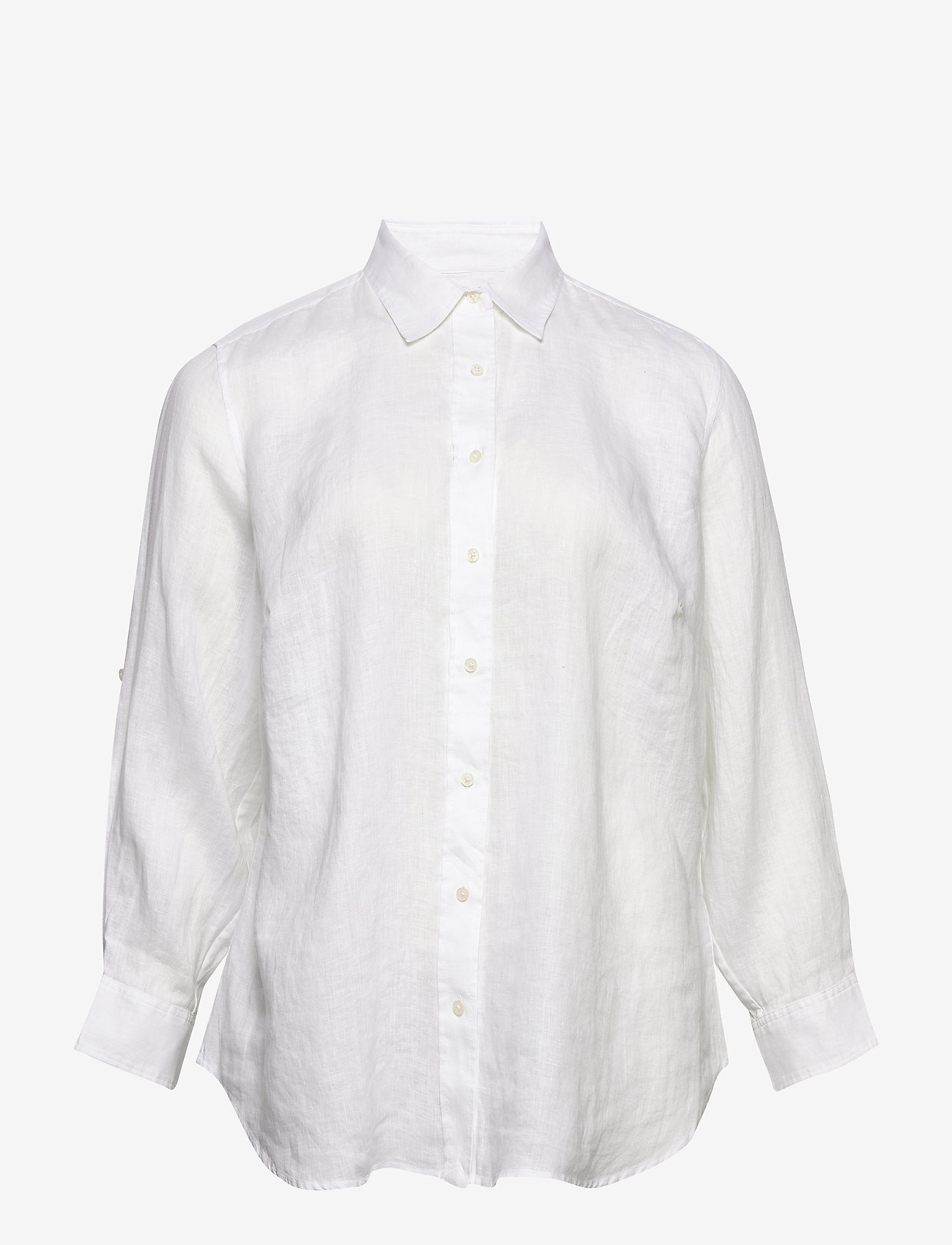 Lauren Women - Linen Shirt - langærmede skjorter - white - 0