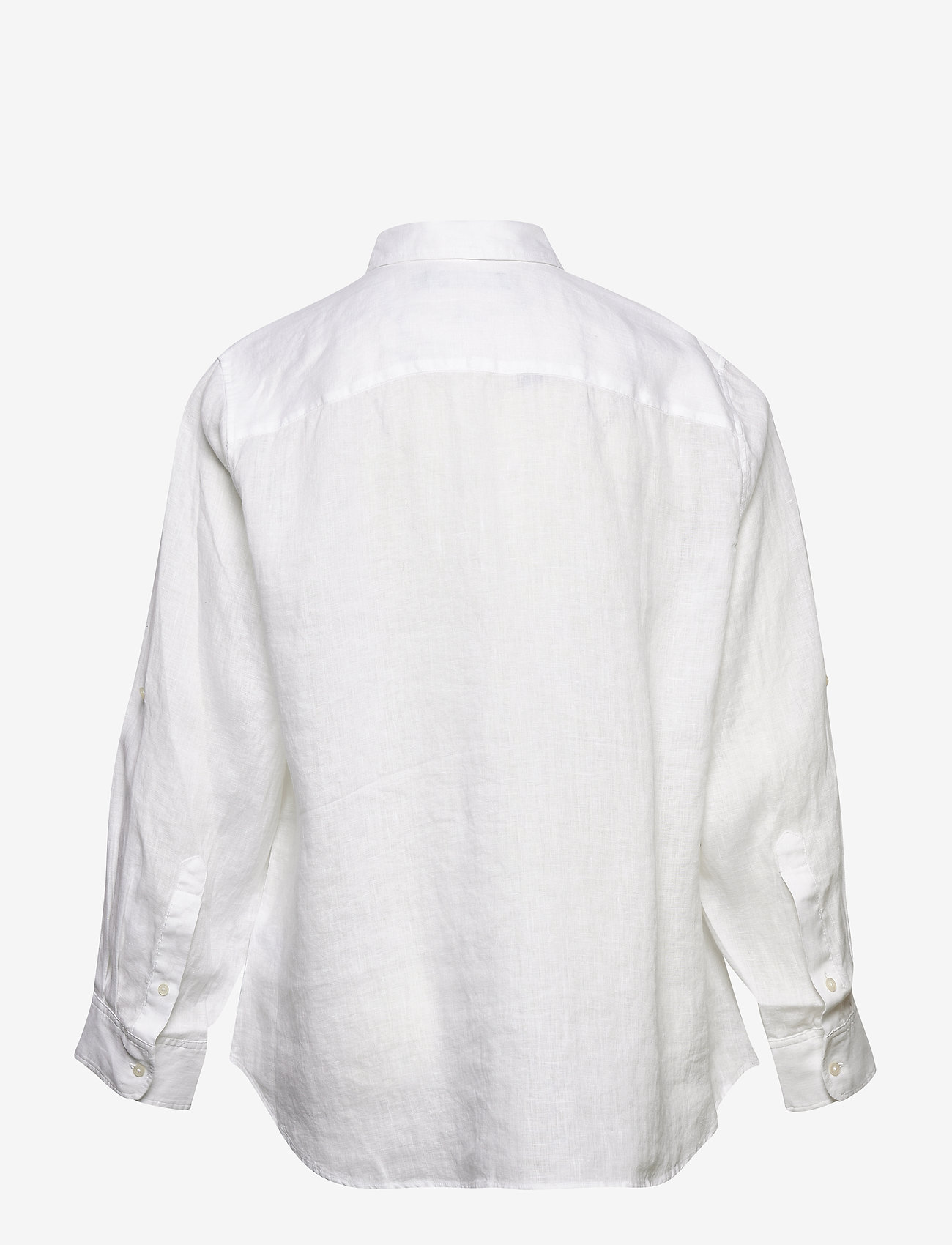 Lauren Women - Linen Shirt - langærmede skjorter - white - 1