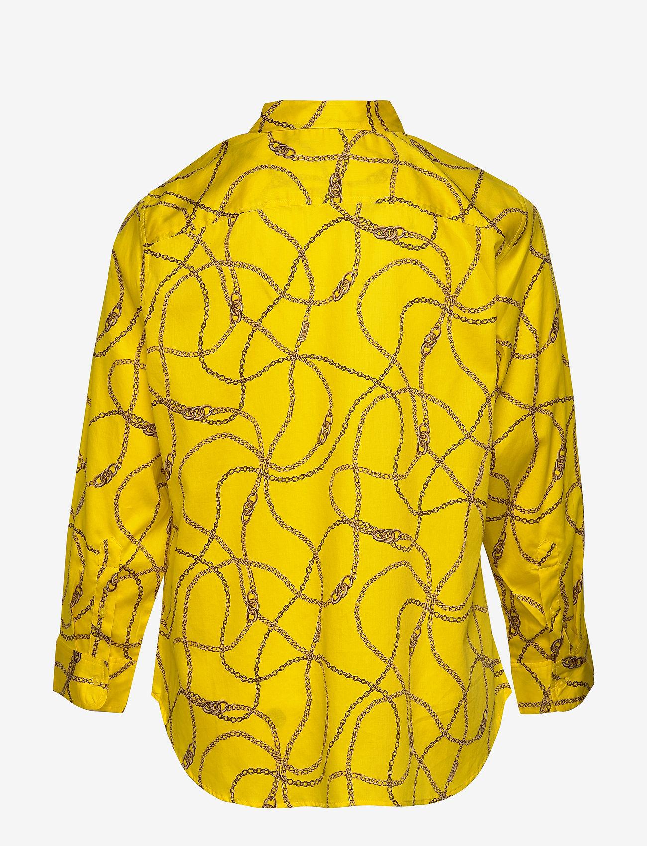 Lauren Women - Print Cotton-Sateen Shirt - langærmede skjorter - dandelion fields - 1