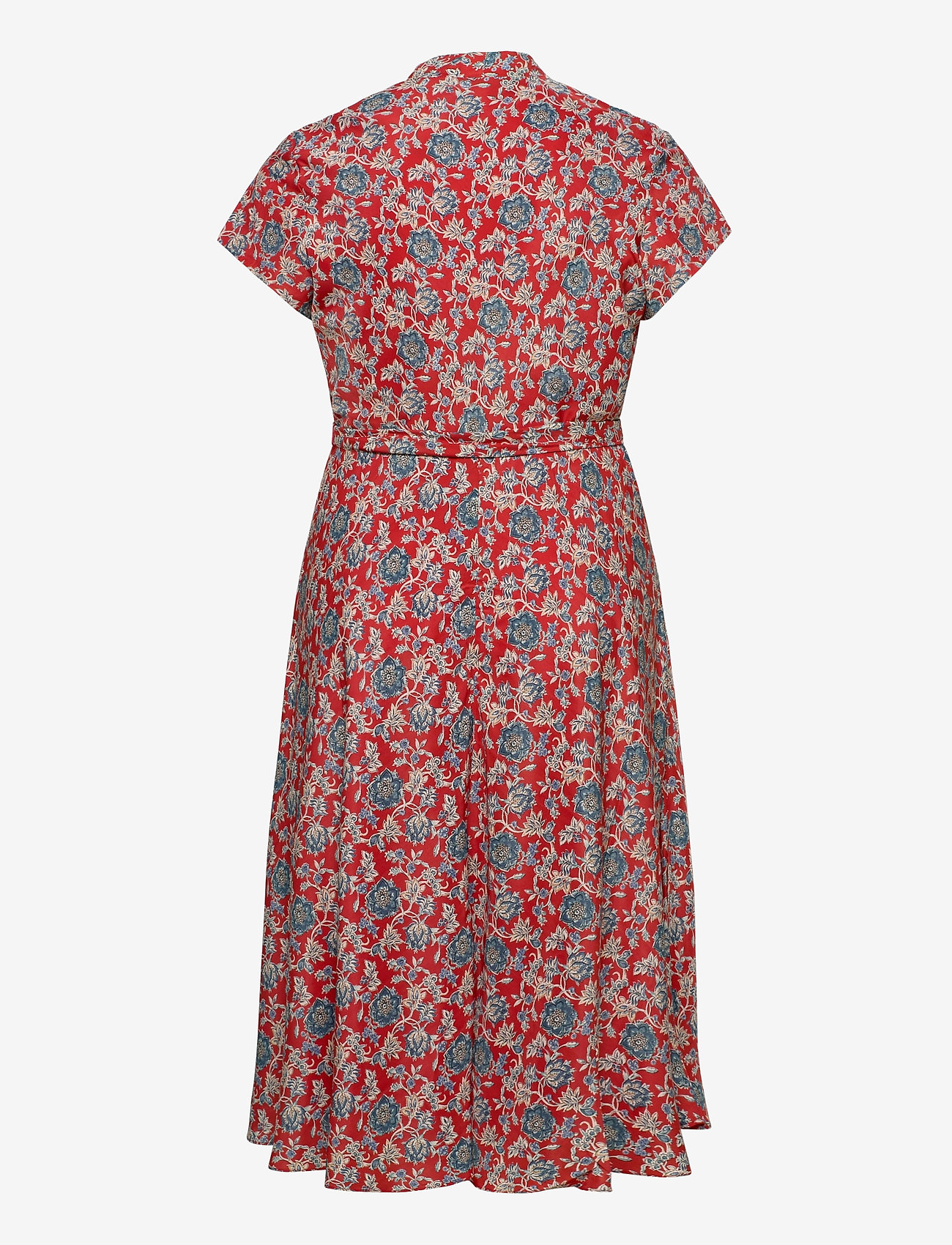Lauren Women - Floral Crepe Midi Dress - midi kjoler - red multi - 1
