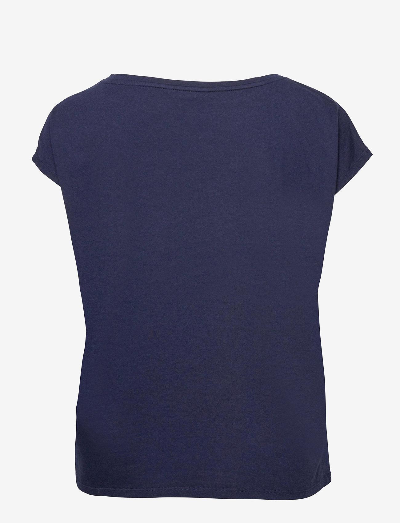 Lauren Women - Logo Boatneck Tee - t-shirts - french navy - 1