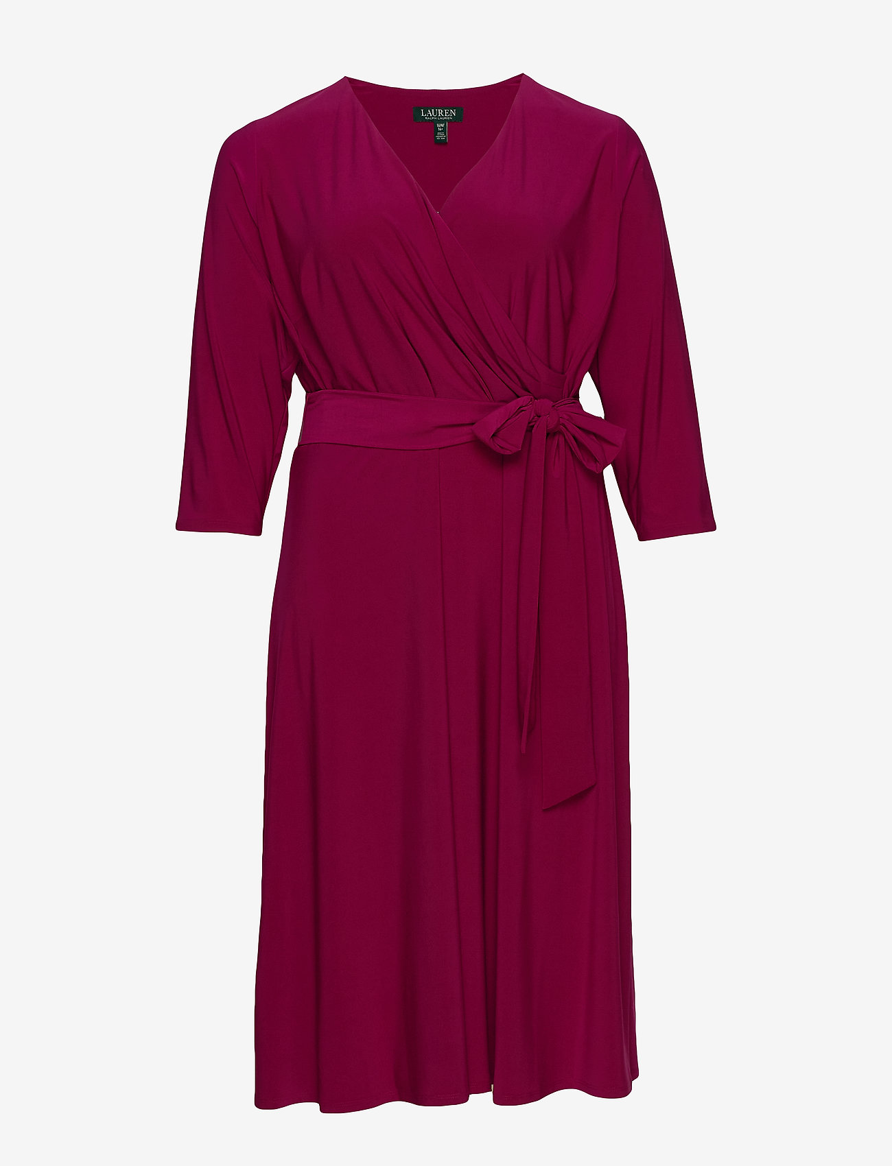 Lauren Women - Surplice Jersey Dress - slå-om-kjoler - very berry - 0