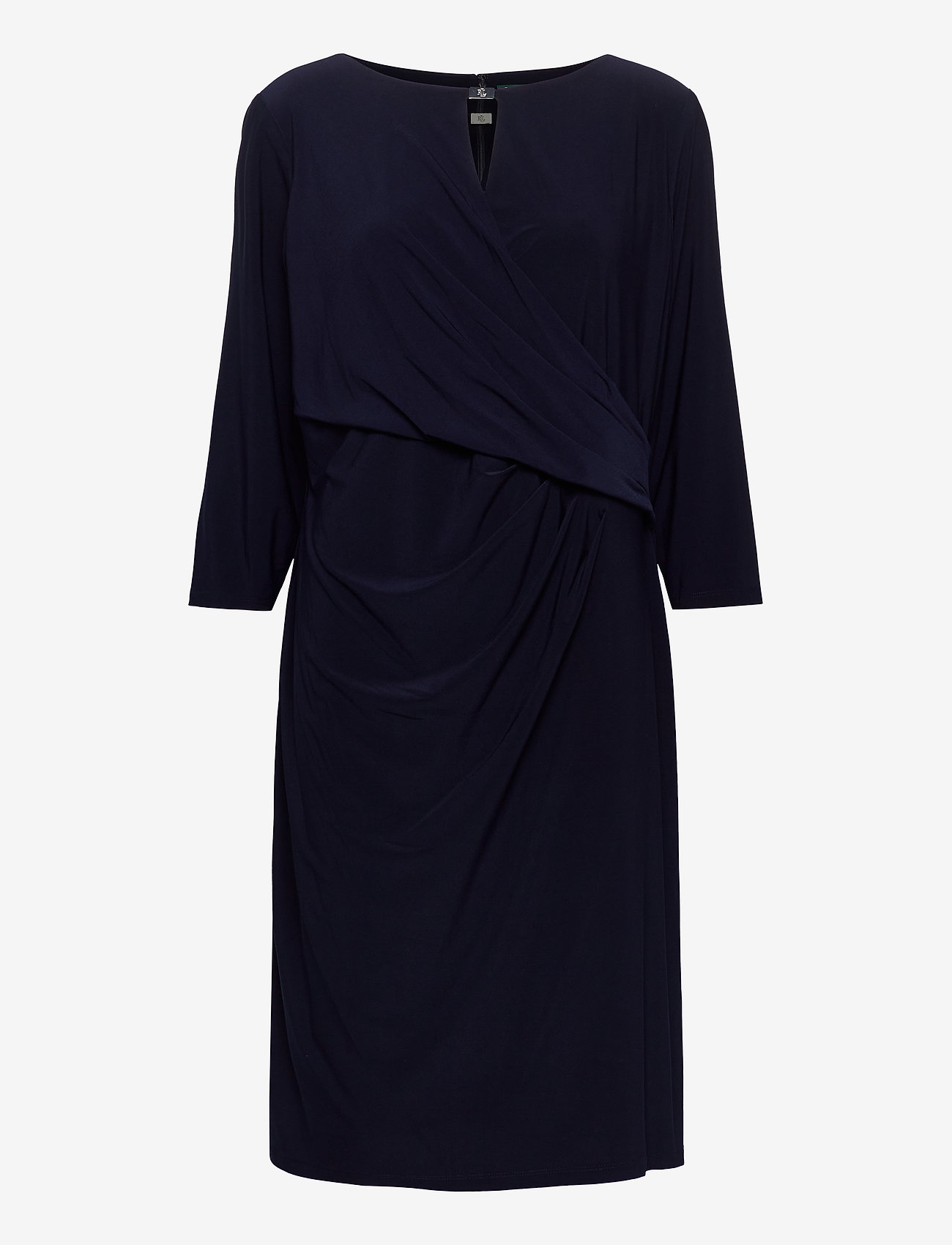 Lauren Women - Wrap-Style Jersey Dress - cocktailkjoler - lighthouse navy - 0