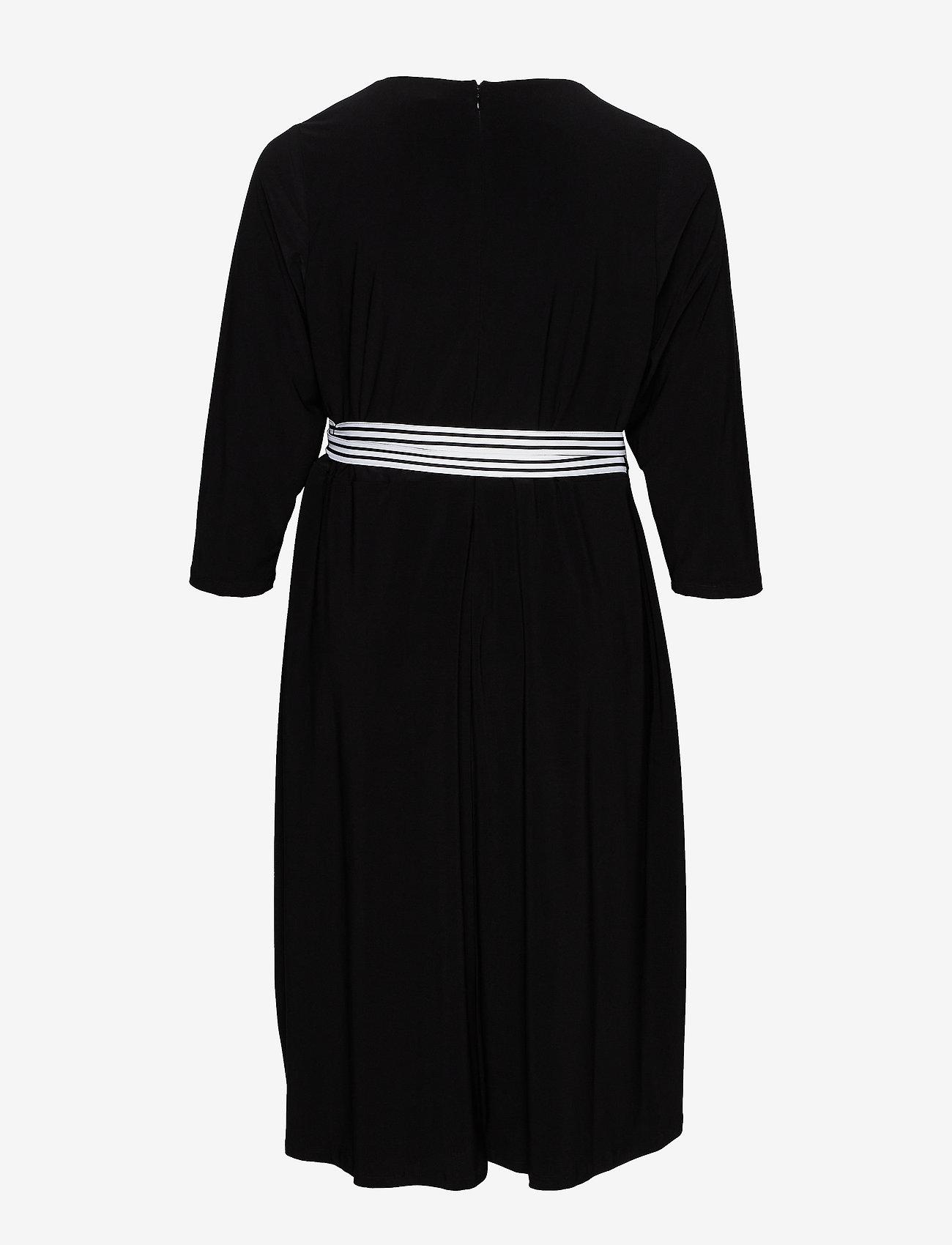 Lauren Women - Matte Jersey Wrap-Style Dress - slå-om-kjoler - black - 1