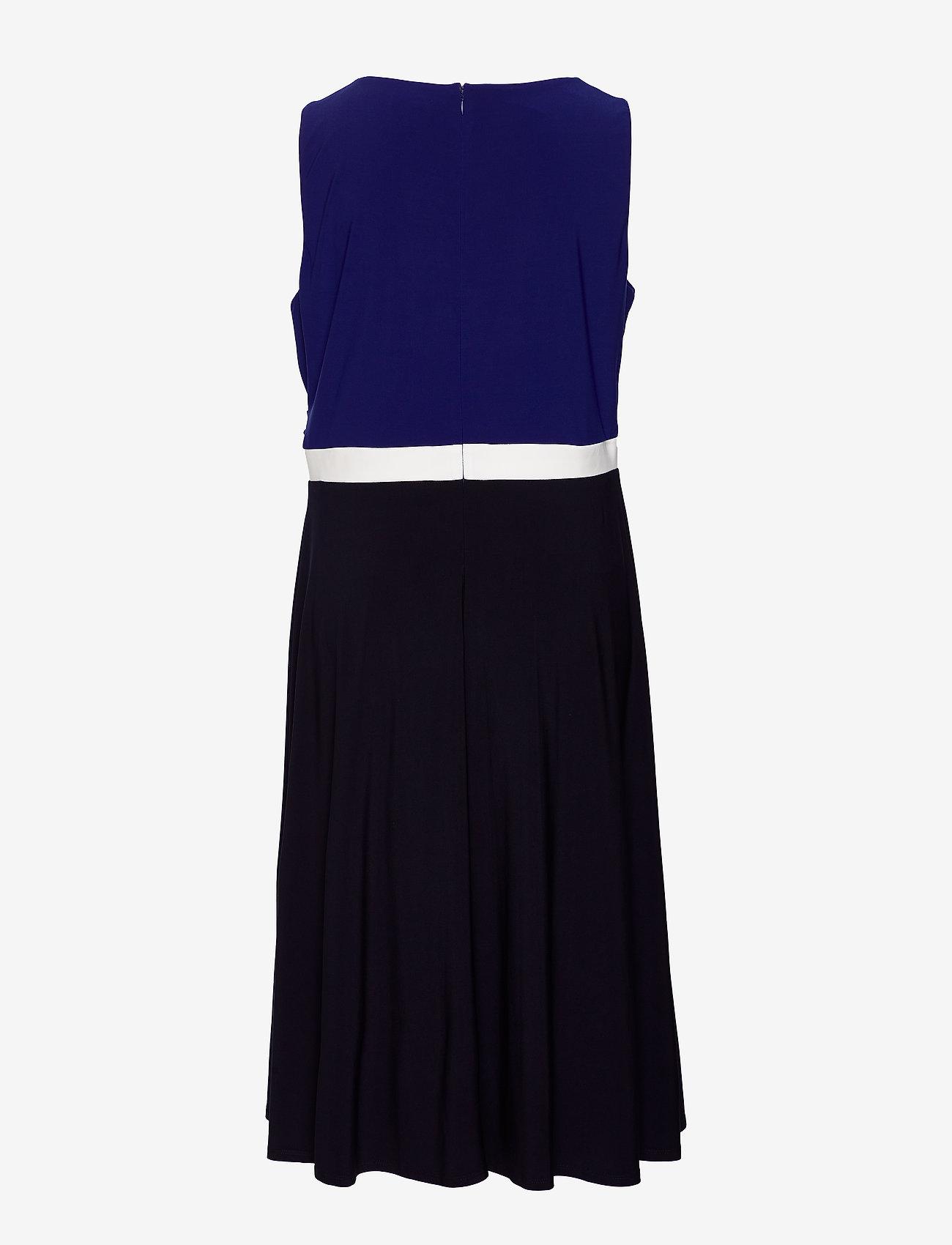 Lauren Women - Color-Blocked Jersey Dress - festkjoler - lh navy/l white/c - 1