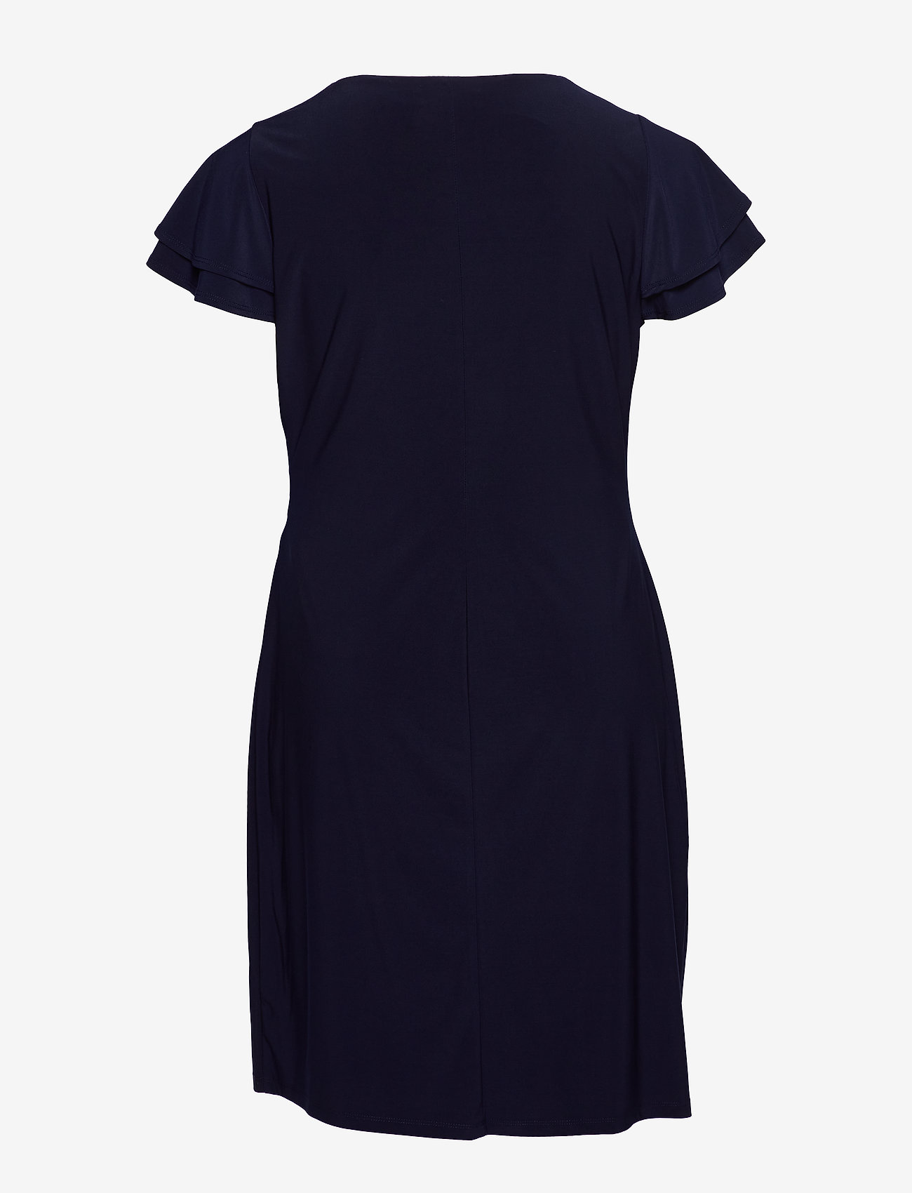 Lauren Women - Flutter-Sleeve Surplice Dress - cocktailkjoler - lighthouse navy - 1