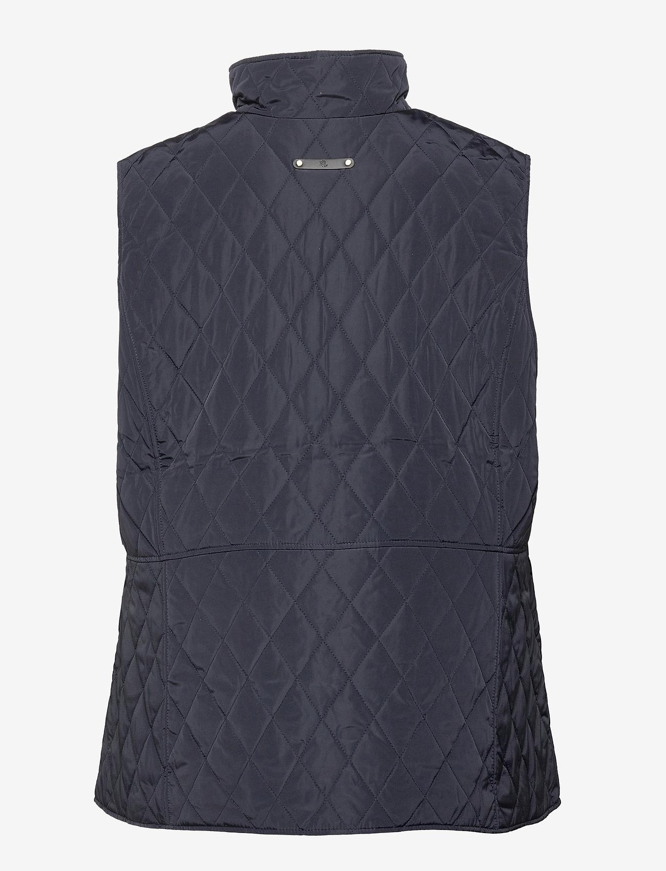 Lauren Women - Quilted Crest Vest - vatteret veste - dark navy - 1