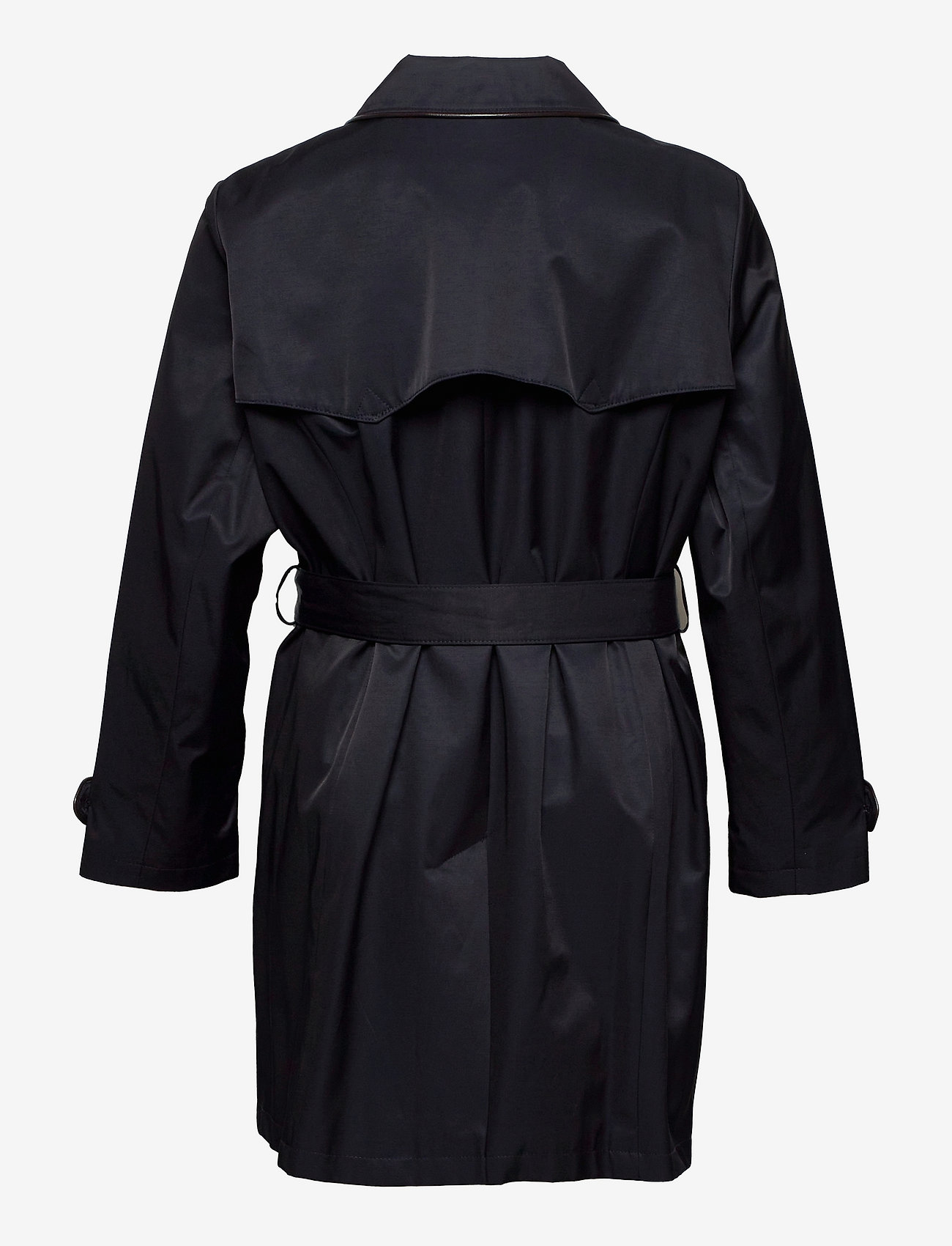Lauren Women - Faux Leather–Trim Trench Coat - trenchcoats - dk navy - 1
