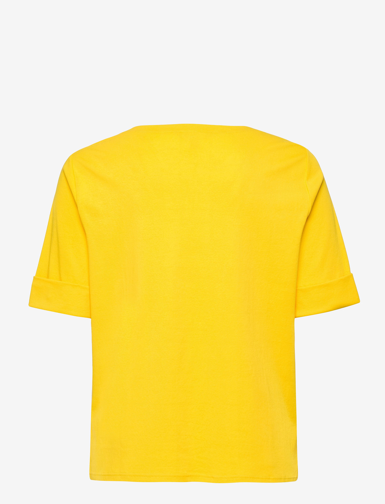 Lauren Women - Stretch Cotton Boatneck Tee - t-shirts - athletic gold - 1