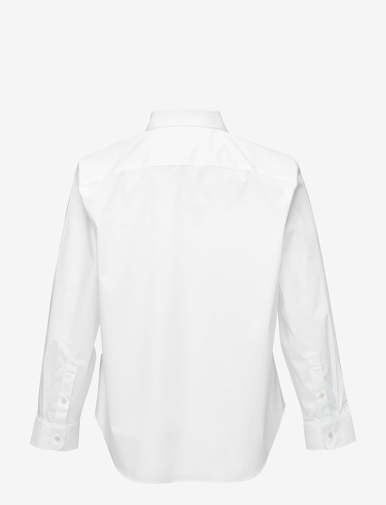 Lauren Women - No-Iron Stretch Cotton Shirt - langærmede skjorter - white - 1