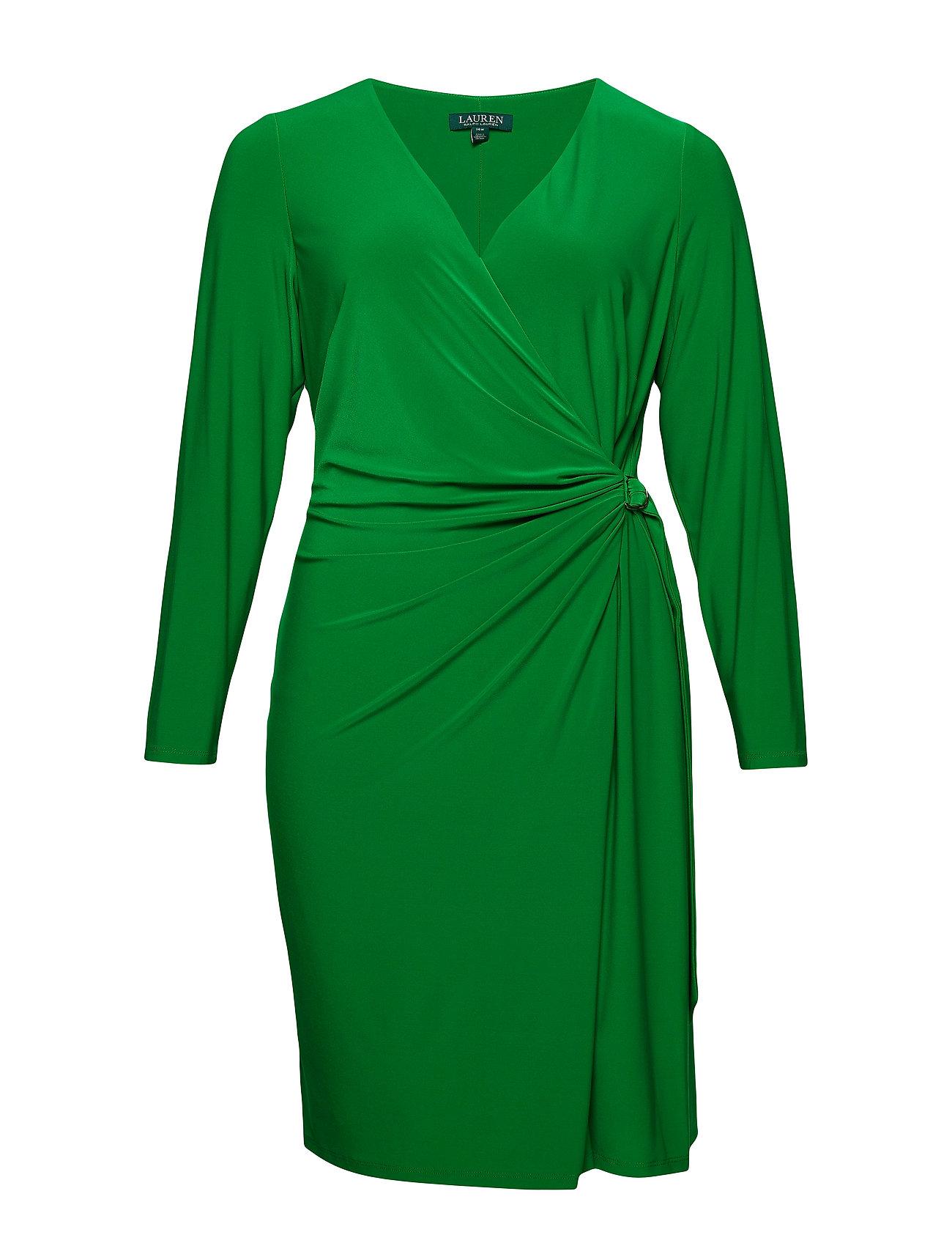 Lauren Women Buckled Jersey Dress - CAMBRIDGE GREEN